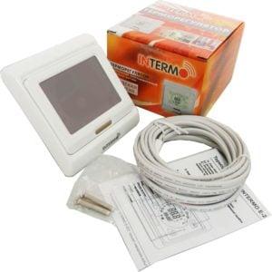 Купить Терморегулятор для теплого пола электронный сенсорный программируемый INTERMO E-203