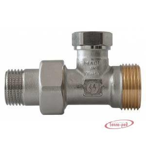 Купить Клапан запорный для радиатора 1/2″х3/4″ евроконус прямой GF