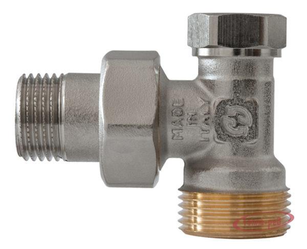 Купить Клапан запорный для радиатора 1/2″х3/4″ евроконус угловой GF
